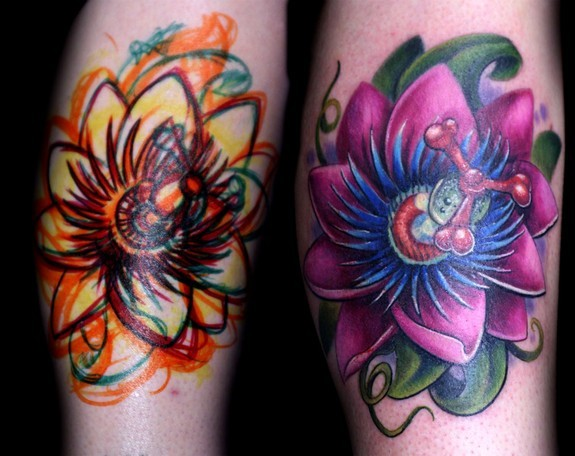 Ron Givens (Ronstafari) - freehand passion flower