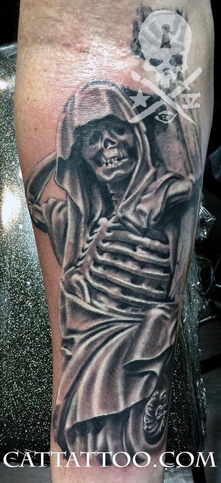 grim reaper by terry mayo tattoos. Black Bedroom Furniture Sets. Home Design Ideas