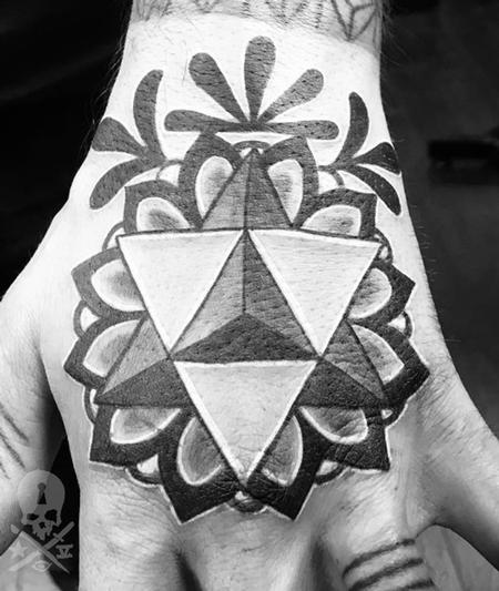 Geo Hand Tattoo Design