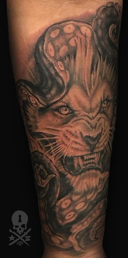 Tattoos - tentacle lion - 132803