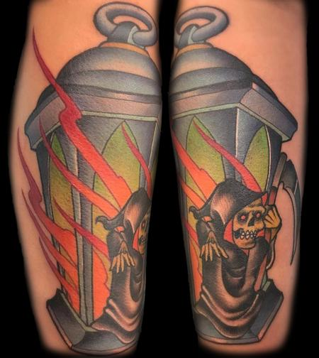 Tattoos - Lantern with Reaper - 129099