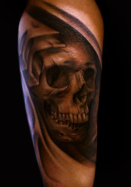 Tattoos - biomechanical skull - 58425