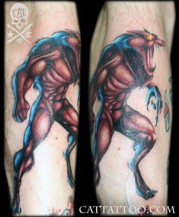 Tatto on Brian Hampton   Werewolf