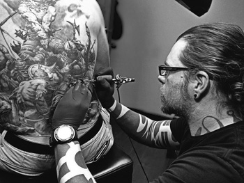 Tattoo Artist Picture Galleries Cat Tattoo :