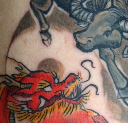 Tattoos - Dragon and Bull Zodiac - 76014