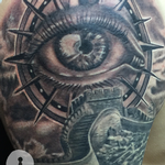 Tattoos - Great Wall and Compass Eye - 127440