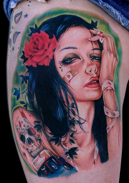 Brian Viveros painting  Tattoo Design Thumbnail