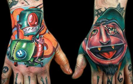 Zim and Count hands Tattoo Design Thumbnail