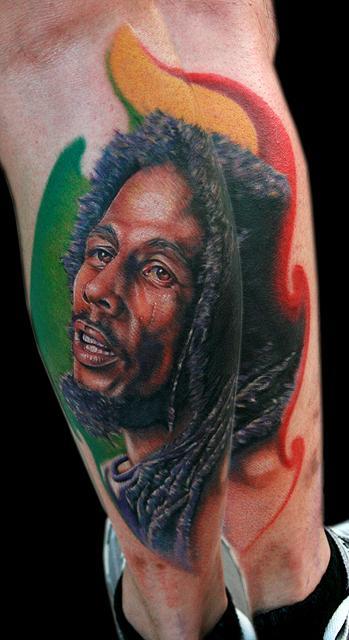 Bob marley by cecil porter tattoos for Bob marley tattoo