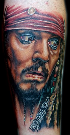 Cecil porter illustration tattoos celebrity jack sparrow for Captain jack sparrow tattoo