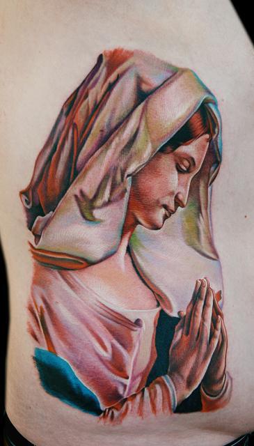 Virgin Mary Praying Tattoos