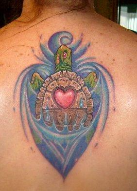Color Turtle Tattoo Tattoo Design Thumbnail