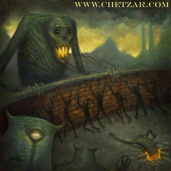 Chet Zar - CHARRED WALLS OF THE DAMNED ALBUM COVER