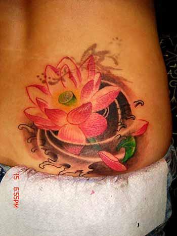 Tattoos - Lotus on Hip - 32150