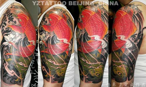 Tattoos Yang Zhuo Red Koi click to view large image
