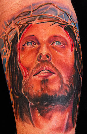 Chris Burnett - JESUS CHRIST Color Portrait Chris Burnett Art Junkies