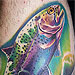 Tattoos - Underwater Trout - 27167