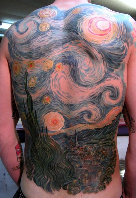 Chris Dingwell - STARRY NIGHT BACK PIECE!!