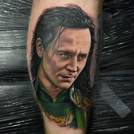 Tattoos - Color Loki Portrait Tattoo - 115223
