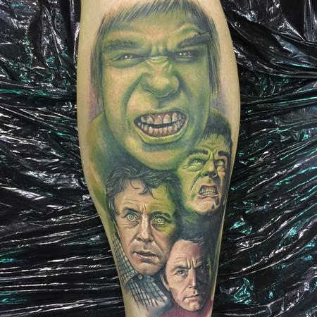 Tattoos - Color Hulk Transformation Tattoo - 115224