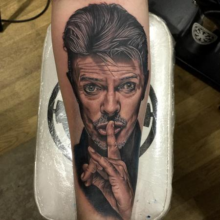 Tattoos - David Bowie Portrait Tattoo - 115225