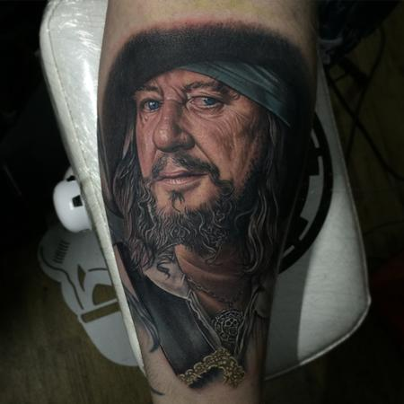 Chris Jones - Captain Barbossa Portrait Tattoo
