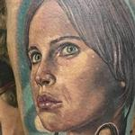 Color portrait of Jyn Erso from Rogue One Tattoo Design Thumbnail