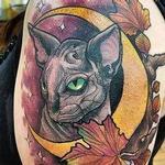 Cat moon tattoo Tattoo Design Thumbnail