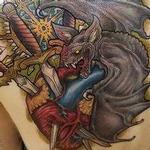 Bat sword heart tattoo Tattoo Design Thumbnail