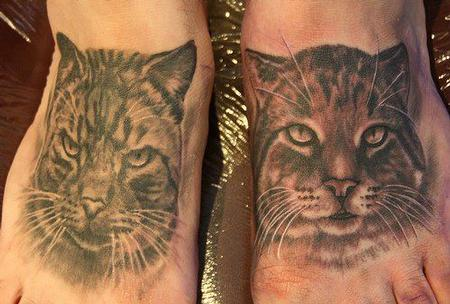 denver tribe tattoo sol clients realistic cat Black Gray and tattoos photo feet. on