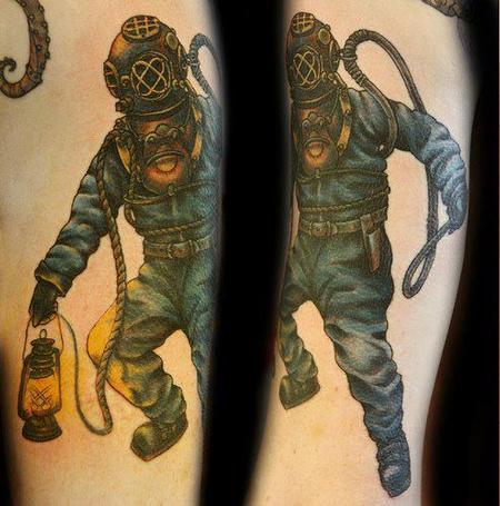 Diver Tattoo Tattoo Design