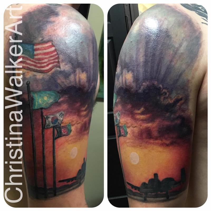 Military Half Sleeve by Christina Walker: TattooNOW