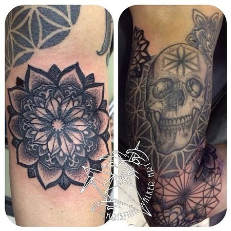 Christina Walker - Mandalas and skull