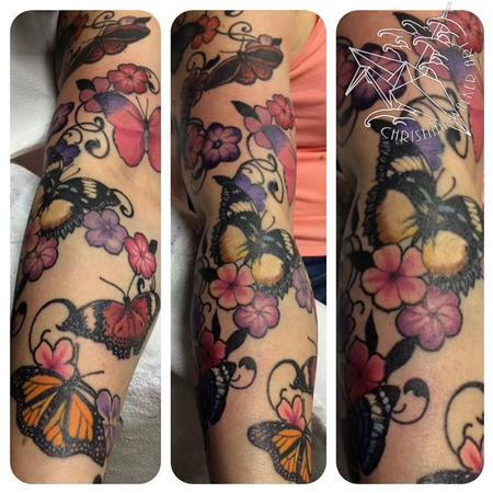 Tattoos - Butterflies and Flowers - 106356