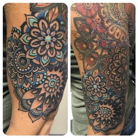 Tattoos - Colorful Mandala Half Sleeve - 109298