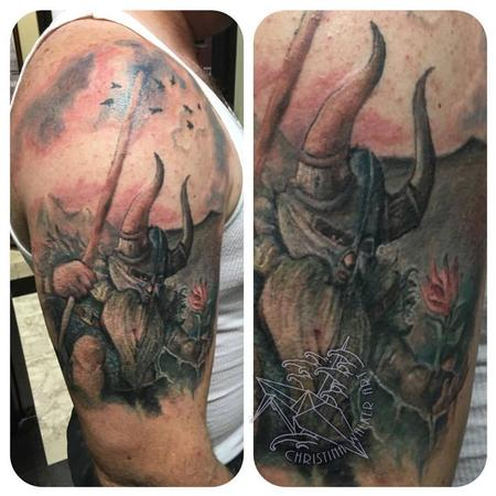 Tattoos - Watercolor Viking - 109297