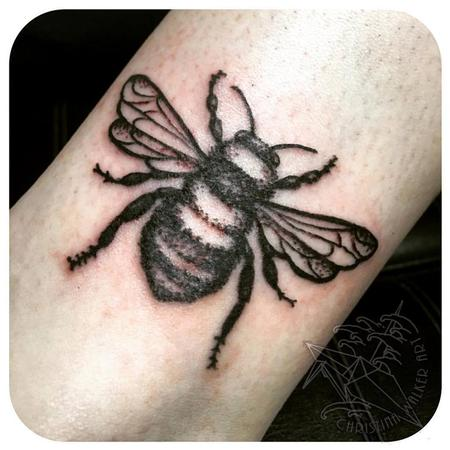 Tattoos - Simple Black Bee - 111808