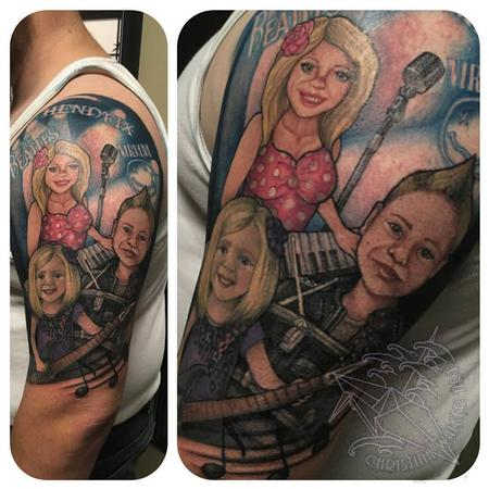 Tattoos - Family Band Half Sleeve - 111813