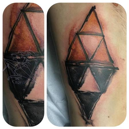 Tattoos - Watercolor Triforce  - 111811