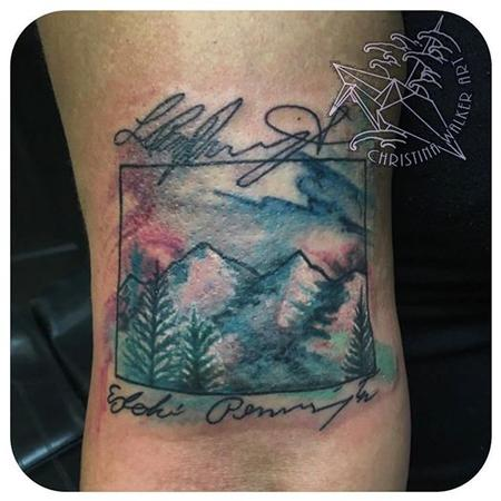 Tattoos - Colorado Watercolor - 113912