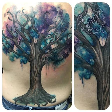 Tattoos - Watercolor Tree Backpiece - 113911