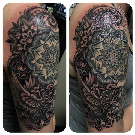 Christina Walker - Mandala Half Sleeve in progress