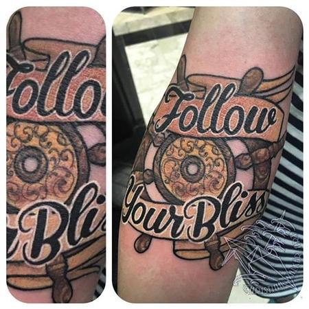 Follow Your Bliss Tattoo Design