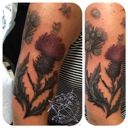 Tattoos - Thistle and Dandelion  - 122145