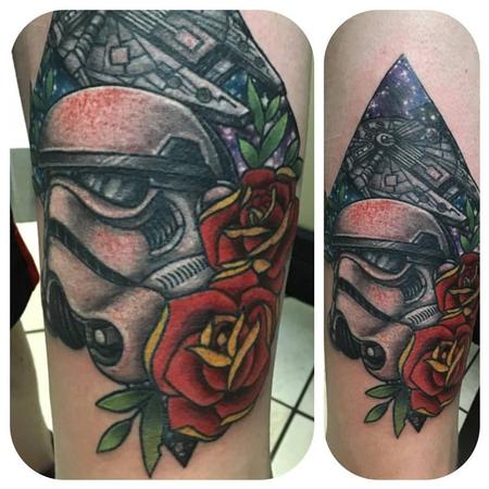 Tattoos - Traditional Star Wars thigh piece - 125119