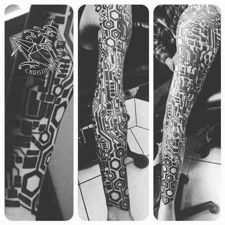Tattoos - Cyber Punk Sleeve - 125120
