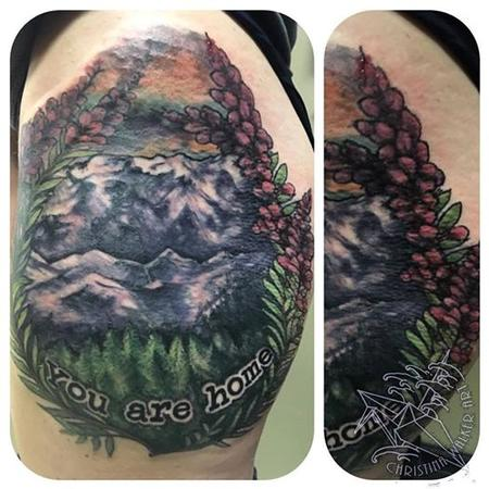 Tattoos - Outdoors themed thigh piece - 117373