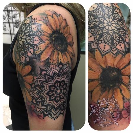 Tattoos - Sunflowers and Mandalas - 125130