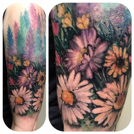 Christina Walker - Nature Watercolor Half Sleeve