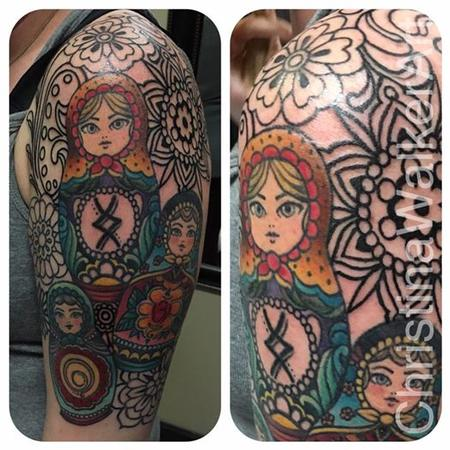 Tattoos - Russian Nesting Doll 1/2 sleeve  - 127734